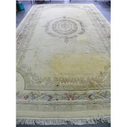 Center medallion ivory Karastan rug
