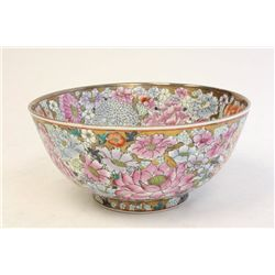 Chinese porcelain floral bowl