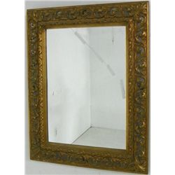 Antique carved wood Italian mirror