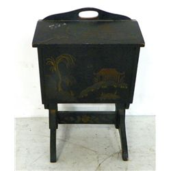 Early 20th c. Chinoiserie sewing stand