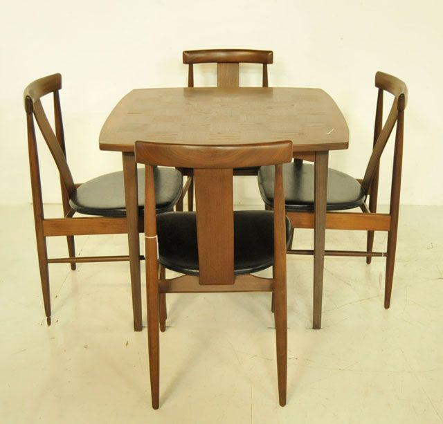 Mid Century Danish Modern Card Table Set - Mid century modern card table