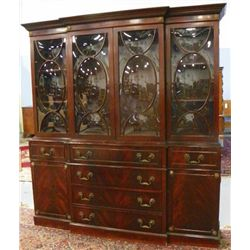 Mahogany bubble glass breakfront