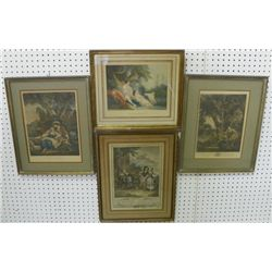 4 framed French prints