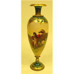 19th c. Royal Vienna vase handpainted by E. Volk