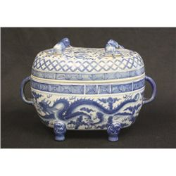 Chinese porcelain blue & white casserole