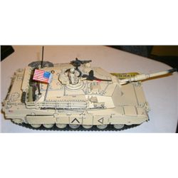 Model Tank stamped *2003 UNIMAX TOYS* LARGE U.S. Tank M1A1 Abrams 1/32 Scale!!