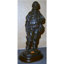 U.S. Soldier Sculpture on Stand *MEASURES 8 1/2  Tall*!!