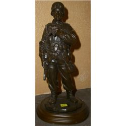 "U.S. Soldier Sculpture on Stand *MEASURES 8 1/2"" Tall*!!"