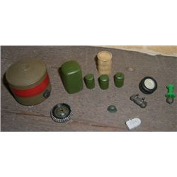 Misc 12 Piece Military Accessories including Helmet/Drums/Tanks & Wheels 1/32 Scale!!