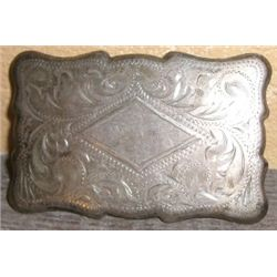 Vintage Frontier SILVER Buckle Stamped *STERLING* - Total weight is 1.720 Troy oz - Very Nice SILVER