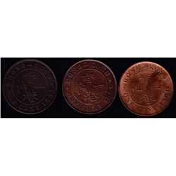 1863/1900/1901 Hong Kong One Cent Lot