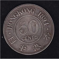 1894 Hong Kong Half Dollar