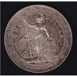 1899 Hong Kong / Great Britain Trade Silver Dollar