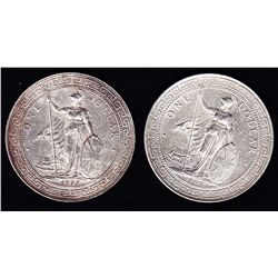 1899 & 1902 Hong Kong / Great Britain Trade Silver Dollars