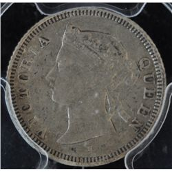 1876H Straits Settlements Five Cent