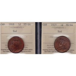 Lot of Two One Cent