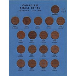 Complete Canadian Small Cent Collection