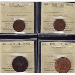 Lot of Four ICCS One Cents