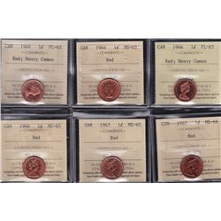 Lot of Seventeen ICCS Graded One Cents