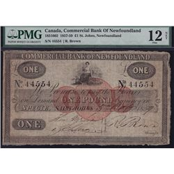1859 Commercial Bank of Newfoundland £1