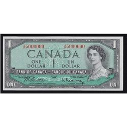 1954 Bank of Canada $1 Million Number Note