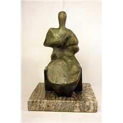 Henry Moore  Original, limited Edition  Bronze- Seated Man