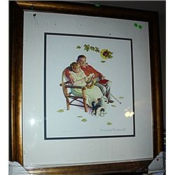 The Four Ages Of Love  - Rockwell - Lithograph