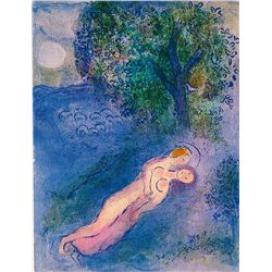 The Teaching Of Philetas- Chagall - Limited Edition on Canvas