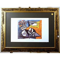 Plate signed Pablo Picasso lithograph