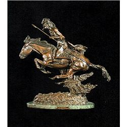 Bronze Sculpture - Cheyenne by F. Remington