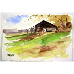 Kennt Reid Original Watercolor on Paper - The Old Fort