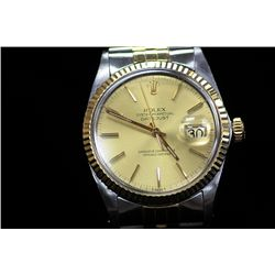 Authentic Gents Two Tone 18K Oyster Perpetual Rolex
