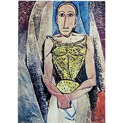 Limited Edition Picasso - Woman In Yellow - Collection Domaine Picasso