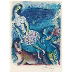 Le Cirque III- Chagall - Limited Edition on Canvas