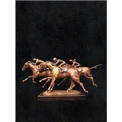 Bronze Sculpture - Win, Place, Show by D. Scott