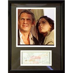 Steve McQueen   Giclee with  Image of  real check