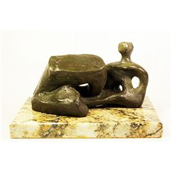 Henry Moore  Original, limited Edition  Bronze- Reclining Figure -