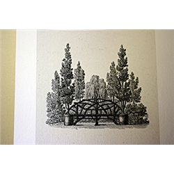 Park Scene Lithograph