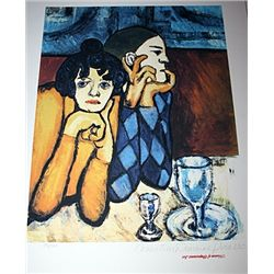 Limited Edition Picasso - Harlequin and His Companion - Collection Domaine Picasso