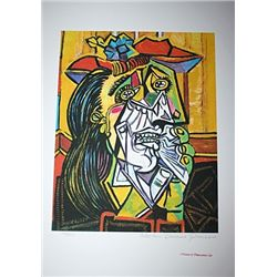 Limited Edition Picasso - Weeping Woman In Red Hat - Collection Domaine Picasso