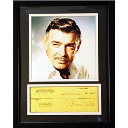 Clark Gable   Giclee with Image of a real check