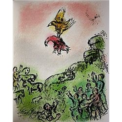  The Omen: The Goshawk and the Dove  by Chagall from the Odyssey Suite.