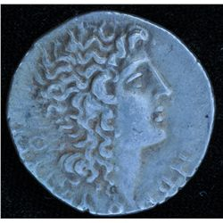 Macedonia Amphipolis (90-75 BC) - AR-Tetrdarchm Obv: Head of Alexander III with horn of Ammon and fl