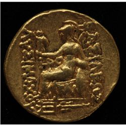 The Seleukid Kingdom Mithradates VI (88-86 BC) - AU-Stater Obv: Diademed head of Alexander III Rev: