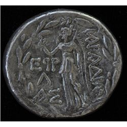 Aradus, Phoenicia - AR-Tetradrachm  Obv: Turreted and veiled bust of Tyche right Rev: ARADIWN, Nike