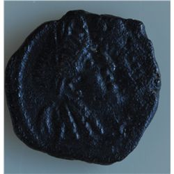 Petra (71-106 AD) - AE-17  Rabbel II Obv: Conjoined  hds.  of   Rabbel II and Queen Gamilath Rev: tw