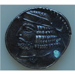 Orodes  II (57-38 BC) - AR-Drachm Obv: Diad and cuir. bust l. star and crescent. Rev: Archer enthron