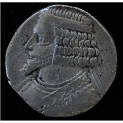 Tiridates (29-27 BC) - AR-Tetradrachm bust l. king seated facing. CNG auction #36 lot 307.  Ex:Fred