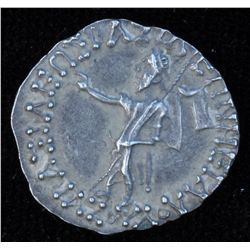 Azes I (57-35 BC) - AR-Drachm  Obv: Zeus stg l., holding a long scepter  in l. hand and making a ges