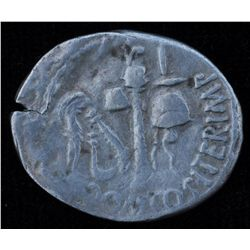 Cn.Domitius Calvinus (39-37 BC) - AR-Denarius Proconsul and Imperator in Spain 39-36 BC. Obv: Bare m